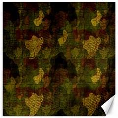 Textured Camo Canvas 16  X 16
