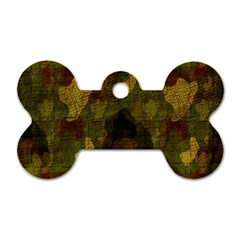 Textured Camo Dog Tag Bone (one Side)