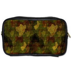 Textured Camo Toiletries Bags 2 Side