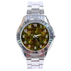 Textured Camo Stainless Steel Analogue Watch
