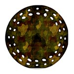 Textured Camo Round Filigree Ornament (Two Sides) Back