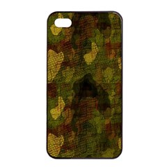 Textured Camo Apple iPhone 4/4s Seamless Case (Black)