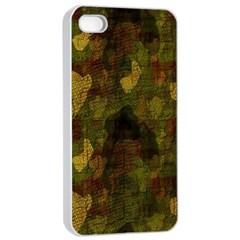 Textured Camo Apple iPhone 4/4s Seamless Case (White)