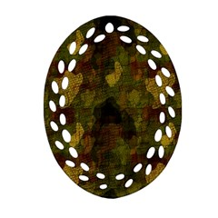 Textured Camo Ornament (Oval Filigree)