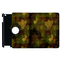 Textured Camo Apple iPad 2 Flip 360 Case