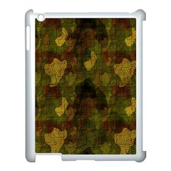 Textured Camo Apple iPad 3/4 Case (White)
