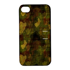 Textured Camo Apple iPhone 4/4S Hardshell Case with Stand