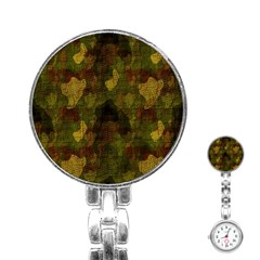 Textured Camo Stainless Steel Nurses Watch