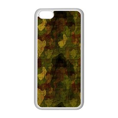 Textured Camo Apple iPhone 5C Seamless Case (White)