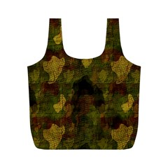 Textured Camo Full Print Recycle Bags (M)