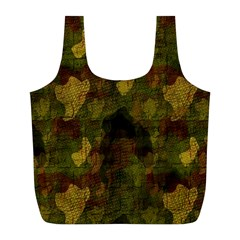 Textured Camo Full Print Recycle Bags (L)