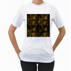 Textured Camo Women s T-Shirt (White)