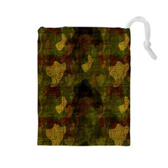 Textured Camo Drawstring Pouches (Large)