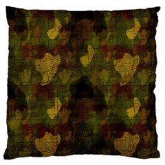 Textured Camo Large Flano Cushion Case (One Side)