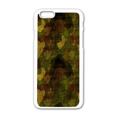Textured Camo Apple Iphone 6/6s White Enamel Case