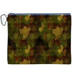 Textured Camo Canvas Cosmetic Bag (xxxl)