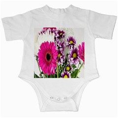Purple White Flower Bouquet Infant Creepers