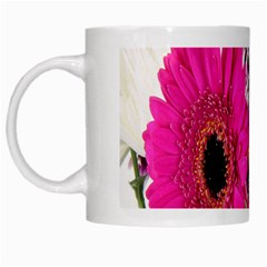 Purple White Flower Bouquet White Mugs