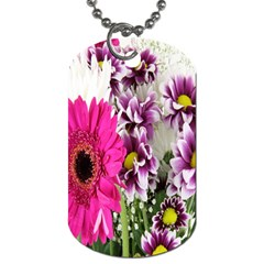 Purple White Flower Bouquet Dog Tag (one Side)