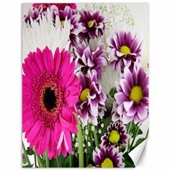 Purple White Flower Bouquet Canvas 12  X 16