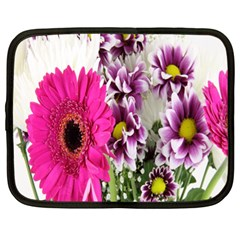 Purple White Flower Bouquet Netbook Case (xl)