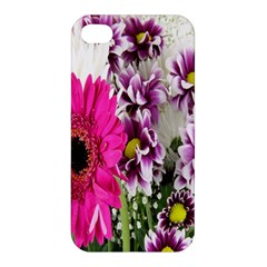 Purple White Flower Bouquet Apple iPhone 4/4S Premium Hardshell Case