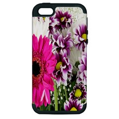 Purple White Flower Bouquet Apple iPhone 5 Hardshell Case (PC+Silicone)