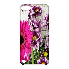 Purple White Flower Bouquet Apple iPod Touch 5 Hardshell Case with Stand