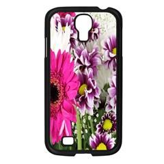Purple White Flower Bouquet Samsung Galaxy S4 I9500/ I9505 Case (Black)