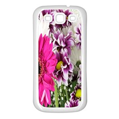 Purple White Flower Bouquet Samsung Galaxy S3 Back Case (white)