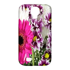 Purple White Flower Bouquet Samsung Galaxy S4 Classic Hardshell Case (PC+Silicone)