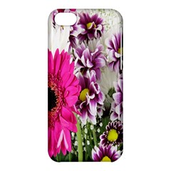 Purple White Flower Bouquet Apple iPhone 5C Hardshell Case