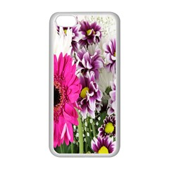 Purple White Flower Bouquet Apple iPhone 5C Seamless Case (White)