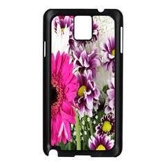 Purple White Flower Bouquet Samsung Galaxy Note 3 N9005 Case (Black)