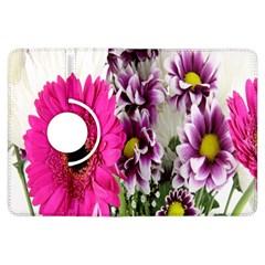 Purple White Flower Bouquet Kindle Fire HDX Flip 360 Case