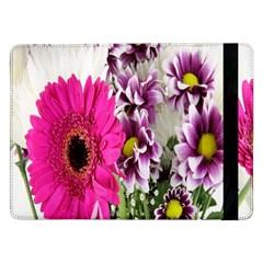 Purple White Flower Bouquet Samsung Galaxy Tab Pro 12.2  Flip Case
