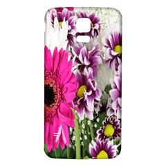 Purple White Flower Bouquet Samsung Galaxy S5 Back Case (White)