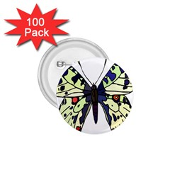 A Colorful Butterfly Image 1.75  Buttons (100 pack)
