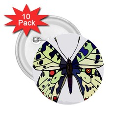 A Colorful Butterfly Image 2 25  Buttons (10 Pack)
