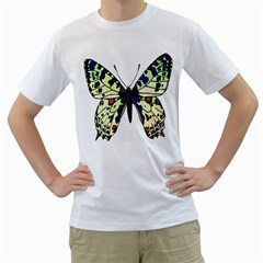 A Colorful Butterfly Image Men s T Shirt (white) (two Sided)