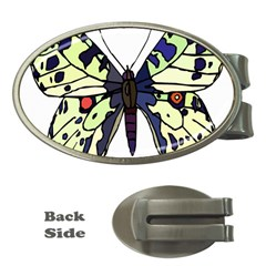 A Colorful Butterfly Image Money Clips (oval)