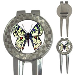 A Colorful Butterfly Image 3-in-1 Golf Divots