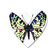A Colorful Butterfly Image Heart Magnet