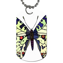A Colorful Butterfly Image Dog Tag (One Side)