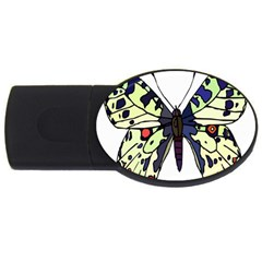 A Colorful Butterfly Image USB Flash Drive Oval (1 GB)