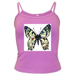 A Colorful Butterfly Image Dark Spaghetti Tank