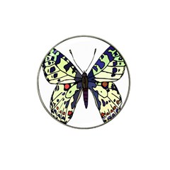 A Colorful Butterfly Image Hat Clip Ball Marker
