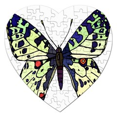 A Colorful Butterfly Image Jigsaw Puzzle (Heart)