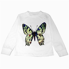 A Colorful Butterfly Image Kids Long Sleeve T Shirts