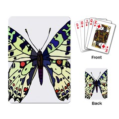 A Colorful Butterfly Image Playing Card